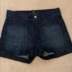 7 for all mankind Jean shorts, size 27